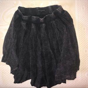 Brandy Melville Distressed Flowy Skirt